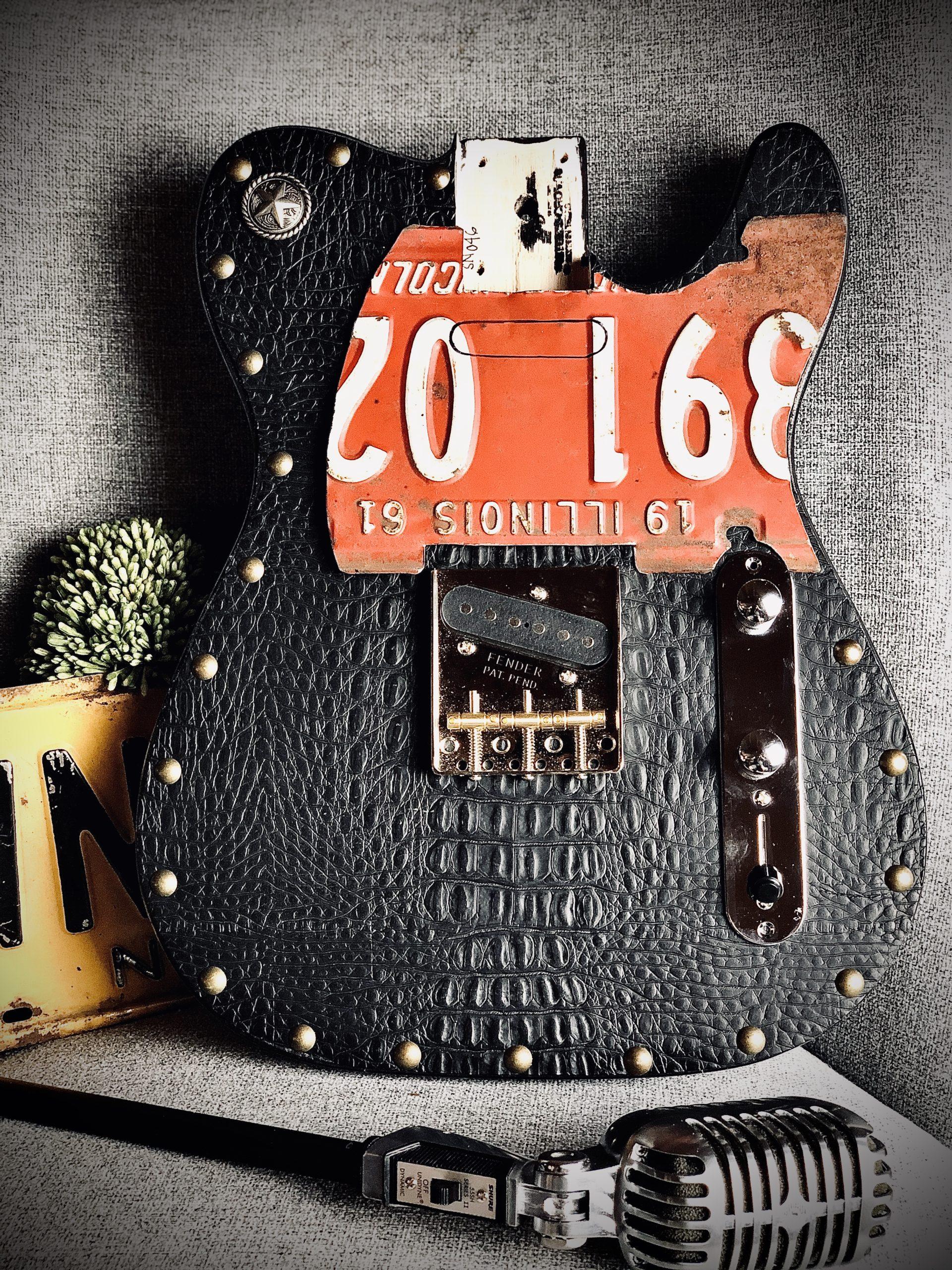 Black Croc Leather